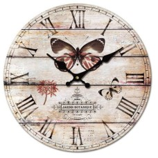 Large Butterfly Design Wall Clock