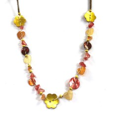 One Button Mabelle Cinnamon Necklace