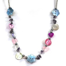 One Button Mabelle Pastel Necklace