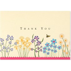 Peter Pauper Press Thank You Note Sparkly Garden