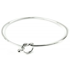 Sterling Silver Infinity Knot Bangle