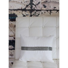 Retreat Home Ivory Sequin Line Cushion