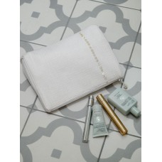 Retreat Home Waffle & Pearl Make-Up Bag