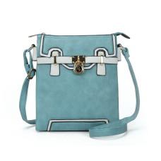 Sally Young Metal Locks Decoration Handbag - Sky Blue