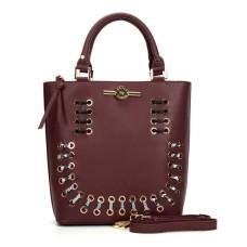 Sally Young Illusion Handbag Collection - Burgundy