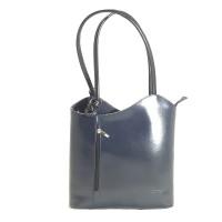 Danielle - Grey & Black Italian Handbag