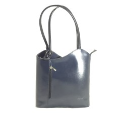 Danielle - Grey & Black Italian Handbag